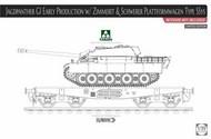 Sd.Kfz.173 Jagdpanther G1 Early & Schwerer Plattformwagen Type Ssys #TAO2125X
