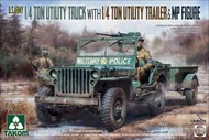 US Army 1/4-Ton Utility Jeep Truck w/Trailer & MP Figure (New Tool) #TAO2126