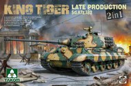 WWII King Tiger SdKfz 182 Late Production Heavy Tank (2 in 1) #TAO2130