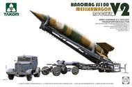 Takom  1/72 WWII German V2 Rocket on Meillerwagen Transporter w/Hanomag SS100 Tractor (New Tool) TAO5001