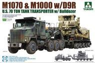 US M1070 Truck Tractor & M1000 70-Ton Tank Transporter w/D9R Bulldozer (New Tool) #TAO5002