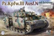 PzKpfw III Ausf N Tank w/Side-Skirt Armor (New Variant) - Pre-Order Item TAO8005
