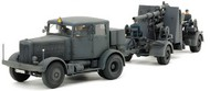 German SS10 Heavy Tractor & 88mm FlaK 37 Gun (2 Kits) #TAM37027