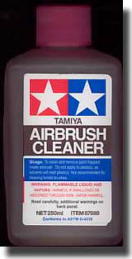 Tamiya Accessories  Tamiya Airbrush Tamiya Airbrush Cleaner 250ml TAM87089