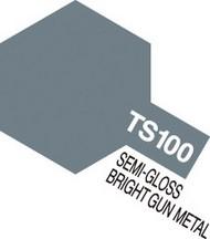 Tamiya Accessories  Tamiya Lacquer Spray Bright Gun Metal Semi Gloss TS-100 Lacquer Spray TAM85100