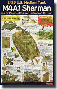U.S. Sherman M4A1 (late production) Normandy version w/hedgerow cutter #PLA35022