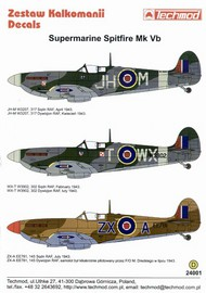 Techmod Decals  1/24 Spitfire Mk.Vb #1 TCD24001