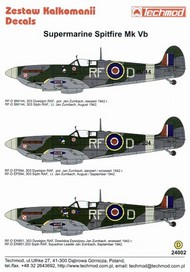 Techmod Decals  1/24 Spitfire Mk.Vb #2 TCD24002