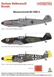 Techmod Decals  1/24 Messerschmitt Bf.109E-3 (3) TCD24009