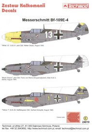 Techmod Decals  1/24 Messerschmitt Bf.109E-4 (3) White 13 3/J TCD24010