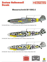 Techmod Decals  1/24 Messerschmitt Bf.109G-2 (3) Yellow 11 9/JG 52 TCD24011