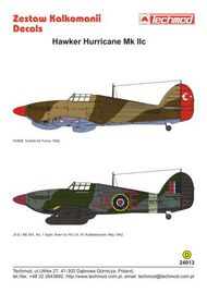 Techmod Decals  1/24 Hawker Hurricane Mk.IIc Hurricane IIc HV608, TCD24013