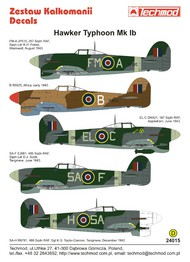 Techmod Decals  1/24 Hawker Typhoon Mk.Ib TCD24015