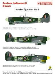 Techmod Decals  1/24 Hawker Typhoon Mk.Ib TCD24016