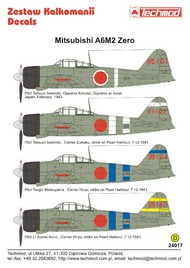 Techmod Decals  1/24 Mitsubishi A6M2 Zero TCD24017