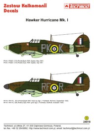 Techmod Decals  1/24 Hawker Hurricane Mk.Ic TCD24018
