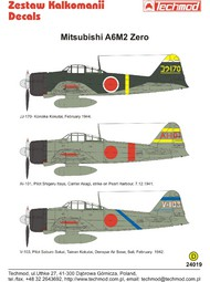 Techmod Decals  1/24 Mitsubishi A6M2 Zero TCD24019