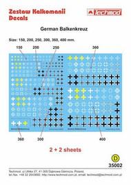 German Balkenkreuz assorted sizes 150mm 200mm 250mm 300mm 360mm 400mm #TCD35002