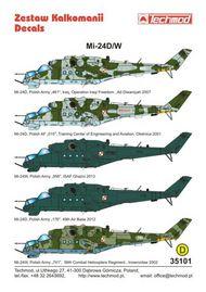 Techmod Decals  1/35 Mil Mi-24D/W [Mi-24W]: Mi-24D 'Hind-D', Polis TCD35101