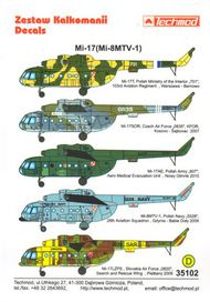 Techmod Decals  1/35 Mil Mi-8MT/Mi-17 Hip-H TCD35102
