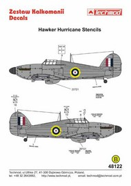 Hawker Hurricane stencils [Mk.I Mk.II Mk.IV] #TCD48122