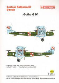 Gotha G.IV S.S.W. 21st Destroyer Squadron Poland 1921 #TCD72031B