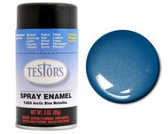 Testors  3ozSpray 3oz. Spray Finishing Enamel Arctic Blue Metallic TES1209