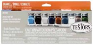 Military Flat Enamel Paint Set (8 Colors & Thinner) (replaces #9131) #TES281230