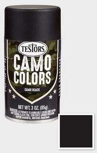 Testors  3ozSpray 3oz. Spray Camo Enamel Black TES342304