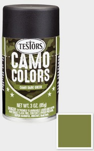 Testors  3ozSpray 3oz. Spray Camo Enamel Dark Green TES342305