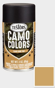 Testors  3ozSpray 3oz. Spray Camo Enamel Dark Tan TES342307