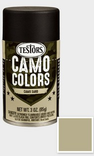 Testors  3ozSpray 3oz. Spray Camo Enamel Sand TES342308