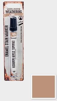 Testors  Testors Enamel Marker 1/3oz. Tube Model Master Weathered Enamel Stain Marker Earth TES342892