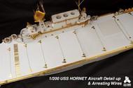 TETRA MODEL WORKS  1/200 USS Hornet CV8 Detail-Up Set & Arresting Wires (D)<!-- _Disc_ --> TETSA20001