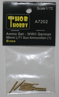 THOR HOBBY  1/72 WWII German 88mm L/71 Gun Brass Ammo Set #1 (3ea of 2 diff & 3 casings) (D)<!-- _Disc_ --> THH7202