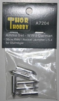 THOR HOBBY  1/72 WWII German Sturmtiger 38cm RW61 Rocket Launcher L/5.4 Aluminum Ammo Set (3ea of 2 diff) (D)<!-- _Disc_ --> THH7204