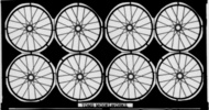 Toms Modelworks  1/28 Spoked Aircraft Wheel Set (D)<!-- _Disc_ --> TMW405