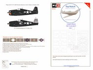 Top Notch  1/24 Grumman F6F-5 Hellcat US Navy national insignia paint mask TNM24-I006