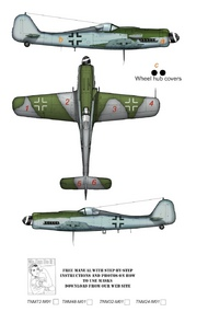 Top Notch  1/24 Focke-Wulf Fw.190D camouflage pattern paint mask TNM24-M001