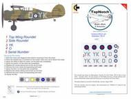Gloster Gladiator Mk.I Insignia YK-O #TNM32-I031