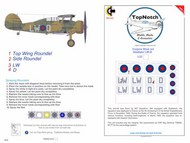 Gloster Gladiator Mk.I Insignia LW-D #TNM32-I032