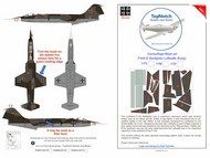 Lockheed F-104G Starfighter Luftwaffe  camouflage pattern paint mask #TNM48-M174