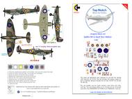 Supermarine Spitfire Mk.1a QJ-K & G (Geoffrey Wellum) mask insignia packs #TNM48-S008