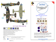 Supermarine Spitfire Mk.1a QV-K (Brian Lane) mask insignia packs #TNM48-S009