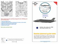 RAM Masks - Lockheed-Martin F-35A Lightning II #TNM48-S013
