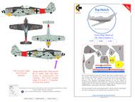 Focke-Wulf Fw.190A-8 series camouflage pattern paint mask pattern 1 #TNM72-M004