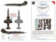 Lockheed F-104G Starfighter Luftwaffe  camouflage pattern paint mask #TNM72-M174