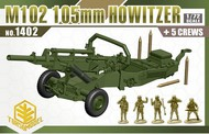 TOXSO MODEL  1/72 M102 105mm Howitzer Gun w/5 Crew- Net Pricing TOX1402
