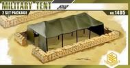 TOXSO MODEL  1/72 Military Tent (2) w/Sandbag Walls TOX1405