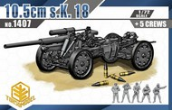 TOXSO MODEL  1/72 10.5cm sK18 Gun w/5 Crew- Net Pricing TOX1407